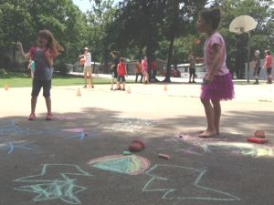 chalk 4 square knock out